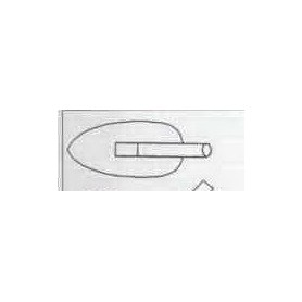 PANNE CHROMEE Moyen modèle 52mm X 25mm