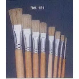 PINCEAU REF 151 N°6 brosse à tableau plates soie blanche pure