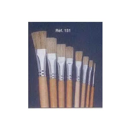 PINCEAU REF 151 N°14 brosse à tableau plates soie blanche pure