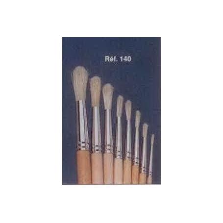 PINCEAU REF 140 N°12 brosse à tableau ronde soie blanche