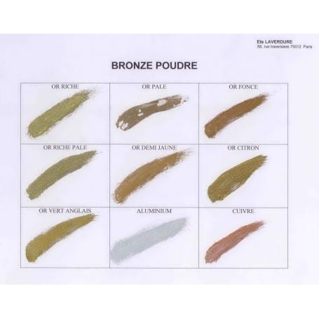 Nuancier bronze poudre