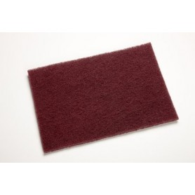 SCOTCH BRITE 3M TRES FIN  158X224MM REF 7447 ROUGE la feuille