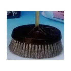 BROSSE N°21 RONDE A QUEUE EN INOX