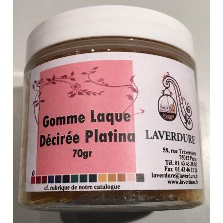 GOMME LAQUE DECIREE PLATINA Boite Petit Modèle 70GR