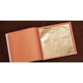 FEUILLE D'OR LIBRE N°2 23 1/4 CARATS 80mmX80mm X10 CARNETS