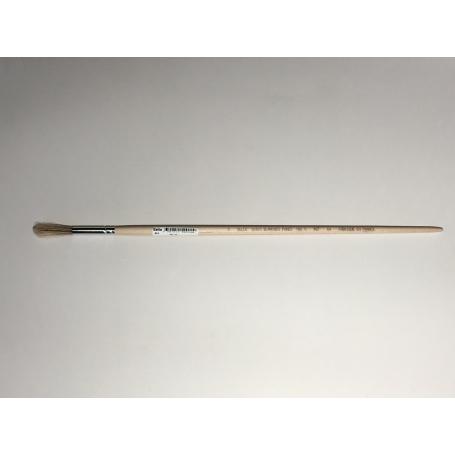 PINCEAU REF 64 N°2 brosse à rechampir - pinceau colle  virole cuivre  soie blanche pure