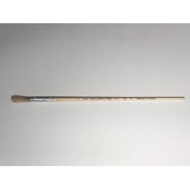 PINCEAU REF 64 N°4 brosse à rechampir - pinceau colle  virole cuivre  soie blanche pure