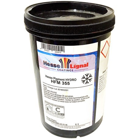 PATE PIGMENTAIRE HYDRO HESSE HFM 355 ROUGE x 1L