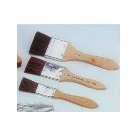 Pinceau ref 379PL à assiette en bœuf brun