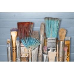 Brosserie, pinceaux,rouleaux, éponges de mer, plumeaux