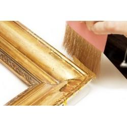 Feuille d'or, matériel pour la dorure, métallisation à froid, oxydation et patine des métaux