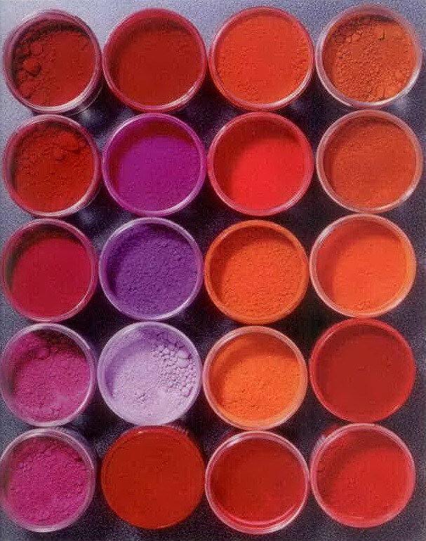 pigments rouges