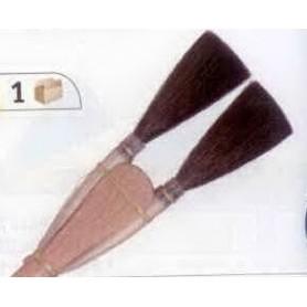 PINCEAU REF 242C N°2 Chiqueter à 2 cornes carrées en petit gris