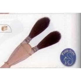 PINCEAU REF 242P N°3 Chiqueter à 2 cornes pointues en petit-gris