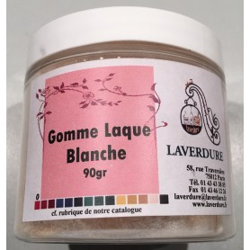 GOMME LAQUE BLANCHE Boite Petit Modèle 90GR