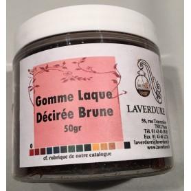 GOMME LAQUE DECIREE BRUNE Boite Petit Modèle 50GR