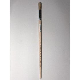 PINCEAU REF 64 N°6 brosse à rechampir - pinceau colle  virole cuivre  soie blanche pure